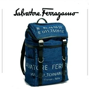 Salvatore Ferragamo Denim Backpack